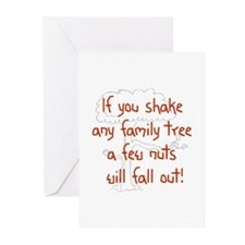 Shaking Family Tree (Red) Greeting Cards (Package