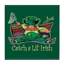 Catch an Irish Leprechaun Tile Coaster