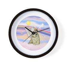 Clouds/Cocker Angel (Buff) Wall Clock