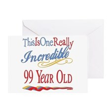 Incredible At 99 Greeting Card