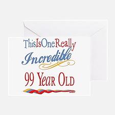 Incredible At 99 Greeting Card