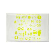 Yellow Tracks Rectangle Magnet