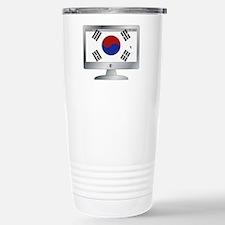 South Korea Flag On Com Travel Mug
