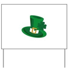 LUCKY HAT Yard Sign