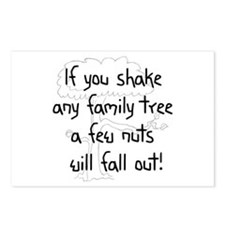 Shaking Family Tree (Black) Postcards (Package of