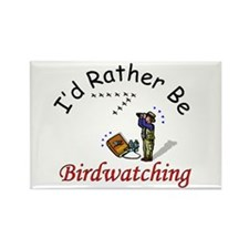 Birdwatching Rectangle Magnet