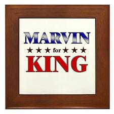 MARVIN for king Framed Tile