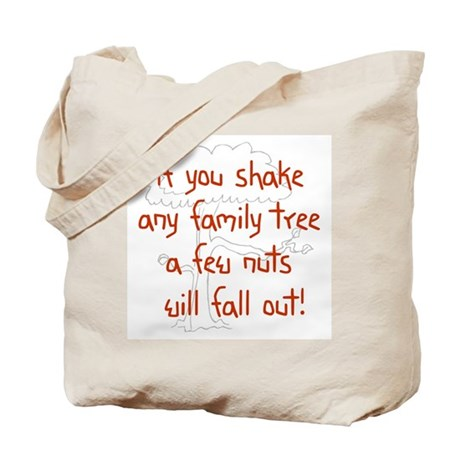 Shaking Family Tree (Red) Tote Bag
