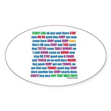 Agility Run Play by Play Oval Decal