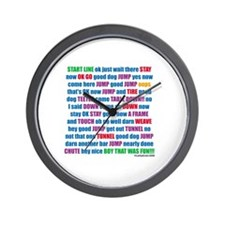 Agility Run Play by Play Wall Clock