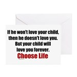Choose Life Greeting Cards (Pk of 10)