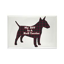 BFF Bull Terrier Rectangle Magnet (100 pack)