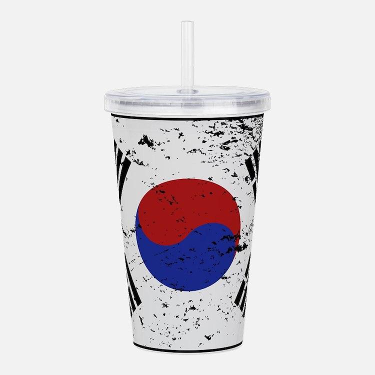 South Korea Flag Grung Acrylic Double-wall Tumbler