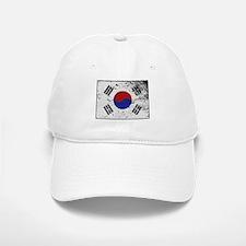 South Korea Flag Grunged Baseball Baseball Cap