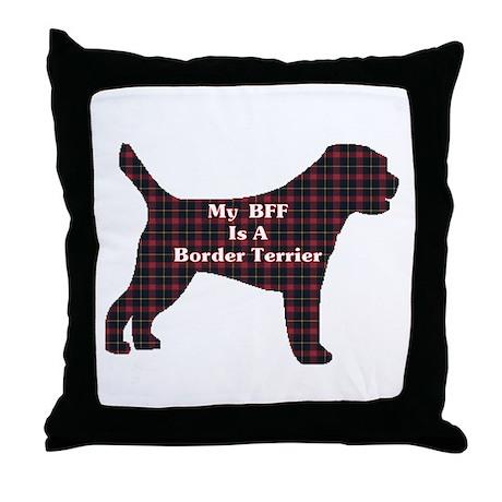 BFF Border Terrier Throw Pillow