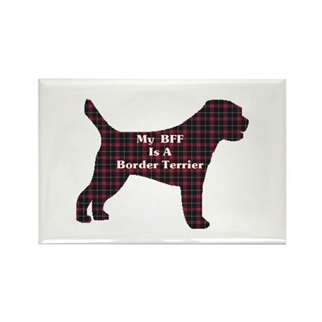 BFF Border Terrier Rectangle Magnet (10 pack)
