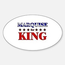 MARQUISE for king Oval Decal