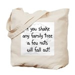 Shaking Family Tree (Black) Tote Bag