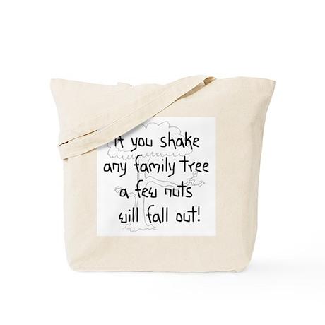 Shaking Family Tree (Black) Tote Bag