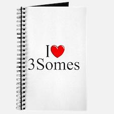 """""""I Love (Heart) 3Somes"""" Journal"""