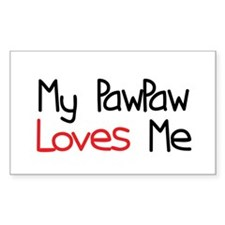 My PawPaw Loves Me Rectangle Bumper Stickers