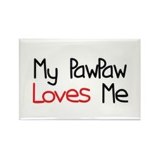 My PawPaw Loves Me Rectangle Magnet