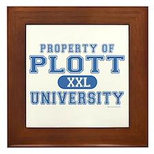 Plott University Framed Tile