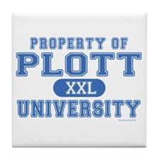 Plott University Tile Coaster