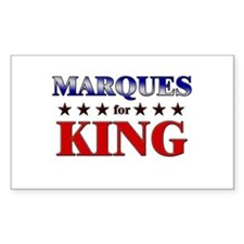MARQUES for king Rectangle Decal