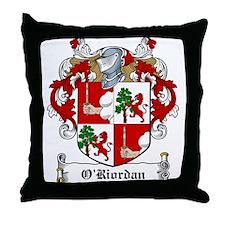 O'Riordan Family Crest Throw Pillow