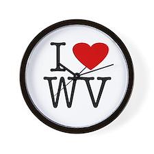 I Love West Virginia (WV) Wall Clock