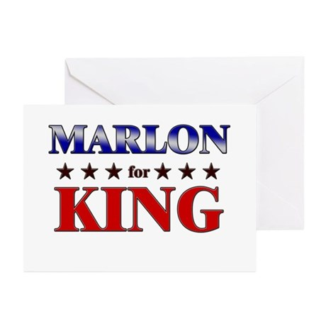 MARLON for king Greeting Cards (Pk of 10)