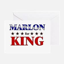 MARLON for king Greeting Card