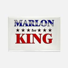 MARLON for king Rectangle Magnet