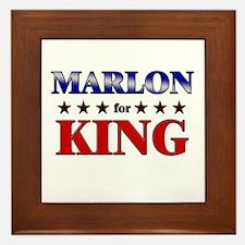 MARLON for king Framed Tile