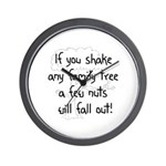 Shaking Family Tree (Black) Wall Clock