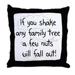 Shaking Family Tree (Black) Throw Pillow