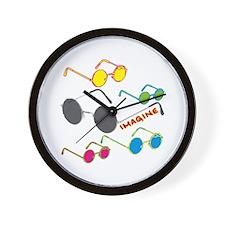 Imagine Glasses Colors Wall Clock