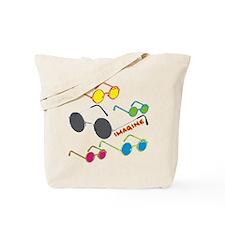Imagine Glasses Colors Tote Bag