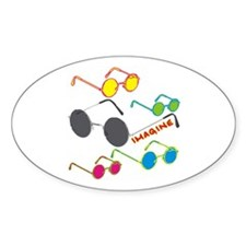 Imagine Glasses Colors Oval Decal