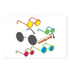Imagine Glasses Colors Postcards (Package of 8)