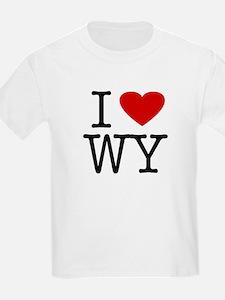 I Love Wyoming (WY) Kids T-Shirt