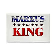 MARKUS for king Rectangle Magnet