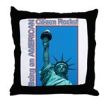 Being an American Citizen Rocks! Throw Pillow