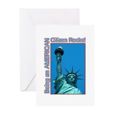 Being an American Citizen Rocks! Greeting Card