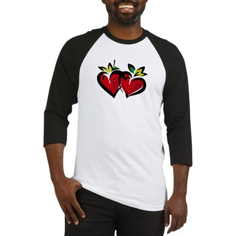 DOUBLE STRAWBERRY HEARTS Baseball Jersey