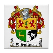 O'Sullivan Family Crest Tile Coaster
