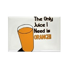 Orange Juice Rectangle Magnet