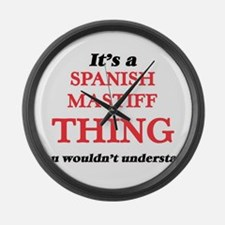 It's a Spanish Mastiff thing, Large Wall Clock