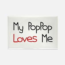 My PopPop Loves Me Rectangle Magnet (10 pack)